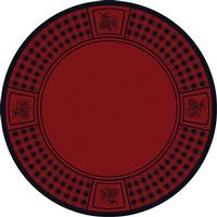 American Dakota Rug: Cabin & Camp Collection Refuge Pine Cone Red 8' Round Drop Ship