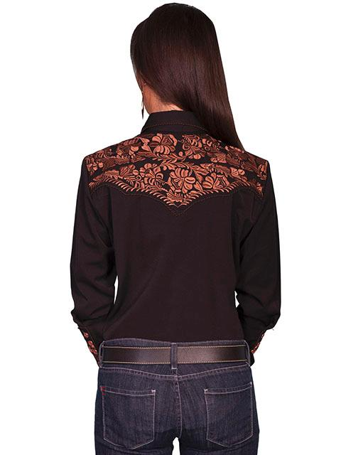 A Scully Ladies Vintage Western Shirt The Gunfighter