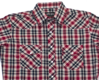 White Horse Men's Western Shirt: Plaid A Red Black