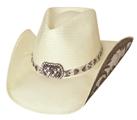 Bullhide Hats Platinum Collection: Straw Shantung Panama Cowgirl Fantasy Natural S-XL