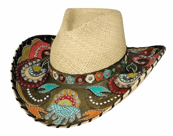 Bullhide Hats Platinum Collection: Straw Genuine Panama Gypsy Queen Natural S-XL