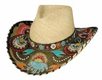 Bullhide Hats: Straw Decorated Panama Gypsy Queen Natural
