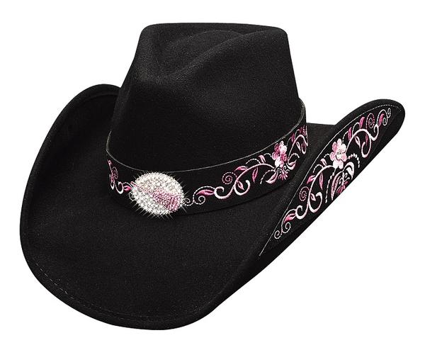 Bullhide Hats: Decorated Felt Rockin' To The Beat Black