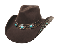 Bullhide Hats Platinum Collection: Wool Sweet Emotion Chocolate S-XL