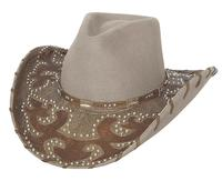 Bullhide Hats: Decorated Wool Ultimate Cowgirl Sand
