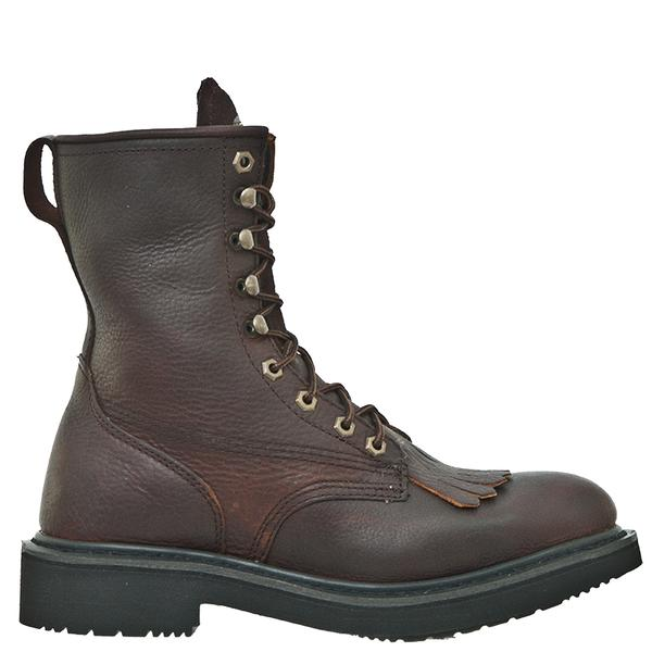 Men's Dan Post Boots Work: Portland Lacer Briar Broad Toe D, EW ...