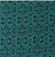 Cowboy Images Accessory: Scarf Charmeuse Print Matrix Teal