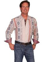 Scully Men's Western Shirt: Signature Series Pattern Stripe Natural S-2XL