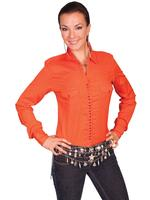 ZSold Scully Ladies' Honey Creek Collection Blouse: Diamond Dobby Tone On Tone Pockets Mandarin SOLD