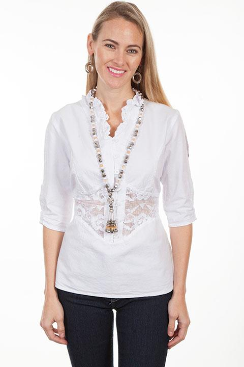 Scully Ladies' Cantina Collection Blouse: A Peek-A-Boo Sleeves