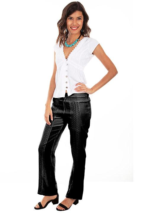 Scully Ladies' Cantina Collection Pant: Crochet Black