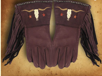 Patricia Wolf Gloves: Longhorns on Chocolate DEAL