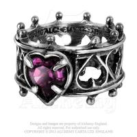 Alchemy Ring Gothic: Elizabethan Romance Crown Ring