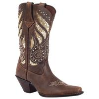 Ladies' Rocky Brands Boots Durango: Crush Collection Bling Brown Snip Toe 6-10,11