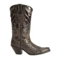 Ladies' Rocky Brands Boots Durango: Crush Collection Bling Black Snip Toe 6-10,11