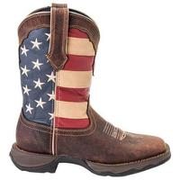 Ladies' Rocky Brands Boots Durango: Lady Rebel Collection Patriotic Square Toe 6-10, 11