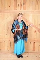 Rhonda Stark Designs Italian Acrylic Collection: Shawl Thunderbird, Fringe