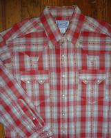 Rockmount Ranch Wear Ladies' Western Shirt: Plaid Retro Dobby Red S-XL Back Ordered