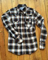 Rockmount Ranch Wear Ladies' Western Shirt: Plaid Cotton Shadow Plaid Brown 2X Backordered