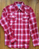 Rockmount Ranch Wear Ladies' Western Shirt: Plaid Cotton Shadow Plaid Red 2X Backordered