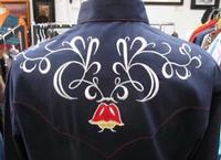 Rockmount Ranch Wear Men's Vintage Western Shirt: Fancy Tulip Floral Embroidery Navy 2XL and Talls