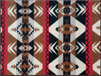 A Rockmount Ranch Wear Blanket: Native American Design Black & Red