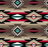 A Rockmount Ranch Wear Blanket: Native American Design Brown