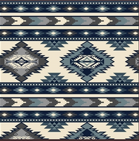 A Rockmount Ranch Wear Blanket: Native American Design Blue
