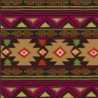 ZSold Rockmount Ranch Wear Blanket: Native American Design Brown SOLD