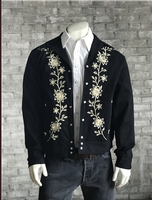 Rockmount Ranch Wear Men's Vintage Western Jacket: Gabardine Floral Embroidered Bolero Advance Order
