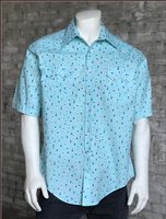 Rockmount Ranch Wear Men's Western Shirt: Print Short Sleeves Dot