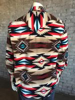 Rockmount Ranch Wear Men's Western Shirt: Winter Fleece Native American Inspired Brown 2X