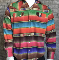 Rockmount Ranch Wear Men's Western Shirt: Winter Fleece Stripe Backordered