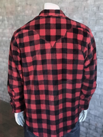Rockmount Ranch Wear Men's Western Shirt: Winter Fleece Buffalo Check Red 2X
