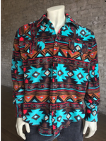 B Rockmount Ranch Wear Men's Western Shirt: Winter Fleece Native American Inspired Backorder