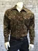 Rockmount Ranch Wear Men's Western Shirt: Print Floral Corduroy 2XL Backordered