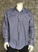 Rockmount Ranch Wear Men's Western Shirt: Gingham Navy S-XL Back Ordered