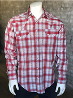 Rockmount Ranch Wear Men's Western Shirt: A Plaid Dobby Retro Red Back Ordered