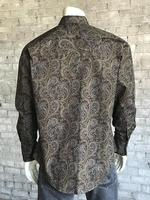 Rockmount Ranch Wear Men's Western Shirt: Print A Paisley Brown 2X