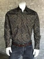 Rockmount Ranch Wear Men's Western Shirt: Print A Paisley Brown