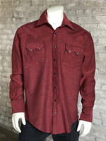 Rockmount Ranch Wear Men's Western Shirt: Chambray Cranberry SALE