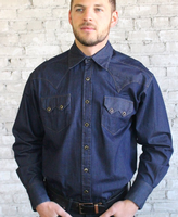 Rockmount Ranch Wear Men's Western Shirt: Denim Tencel