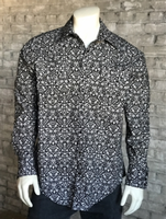 Rockmount Ranch Wear Men's Western Shirt: Print Floral Black White S-XL