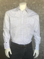 Rockmount Ranch Wear Men's Western Shirt: Dress Shirt Tattersall White S-XL