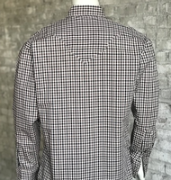 Rockmount Ranch Wear Men's Western Shirt: A Check Windowpane Tan Black 2XL