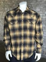 Rockmount Ranch Wear Men's Western Shirt: Winter Flannel Plaid Toast Backordered
