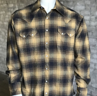 Rockmount Ranch Wear Men's Western Shirt: Winter Flannel Plaid Toast 2X Backordered
