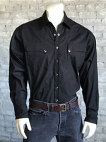 Rockmount Ranch Wear Men's Western Shirt: Quarter Horse Pockets Black Backordered