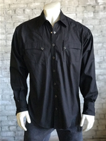 Rockmount Ranch Wear Men's Western Shirt: Quarter Horse Pockets Black 2XL Backordered