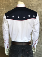 Rockmount Ranch Wear Men's Vintage Western Shirt: Fancy Show Your Colors Flag Design 2X